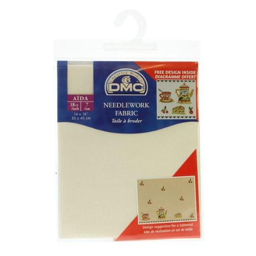 18 Count Aida Fabric 14x18 Inches (35x45cm) - Ecru - DC37/10 DMC