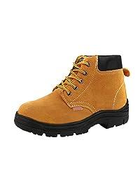 Optimal Men's Steel Toe Plate Boots Slip Resistant Work Shoe