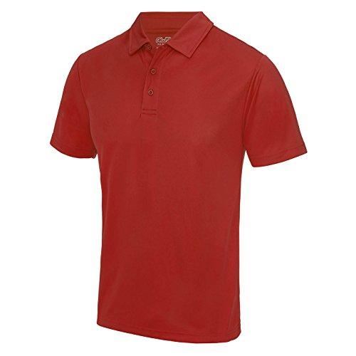 AWDis Cool Herren Poloshirt Rot Feuerrot S