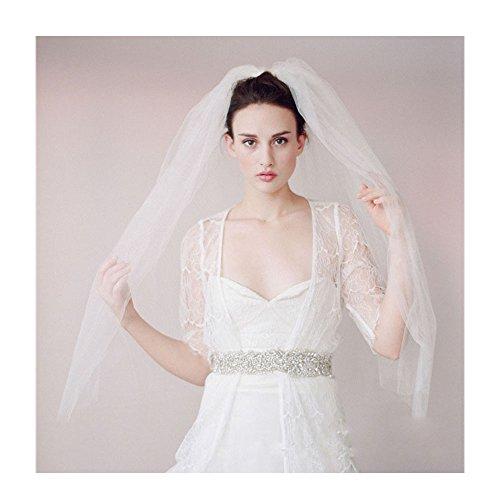 2t short wedding veil birdcage bridal veil