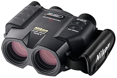 Nikon 7457 StabilEyes 14x40 Image Stabilization Waterproof Binocular with Case, Neck Strap & Batteries