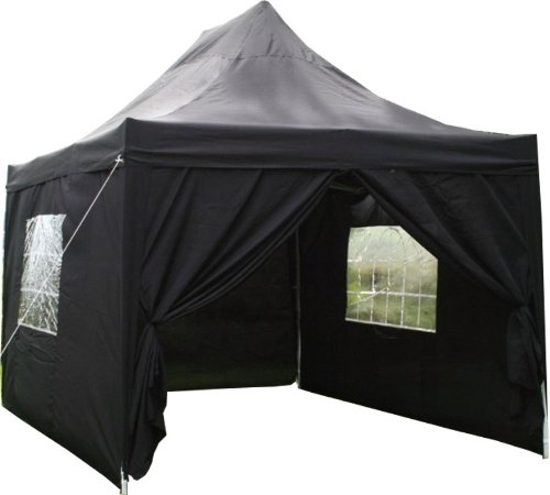 Airwave 4.5x3mtr Black Pop Up Gazebo Waterproof with 4 Side Panels Integral Windbar ( 6 Colours Available)