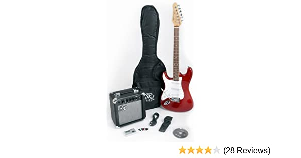 SX ELECTRIC GUITAR STRAT SHAPE STUNNING RED SOLID BODY SPECIAL OFFER