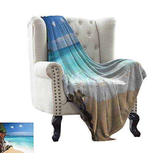 Decorative Throw Blanket Tropical Beach Seaside Cliff Under Clear Sky Coastline of Bali Island Fall Winter Spring Living Room 70