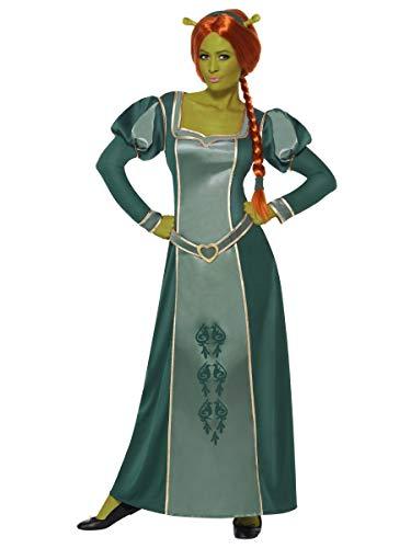 Ladies Shrek Fiona Disney Princess Long Full Length Fancy Dress Costume Outfit (UK 12-14) Green -