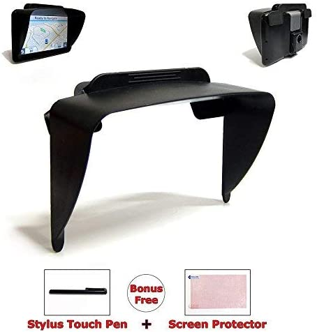 TFY GPS Navigation Sun Shade Visor Plus Flexible Visor Extension Piece for 7Inch