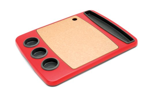 Epicurean BBQ Salver, Red with Natural Cutting Board