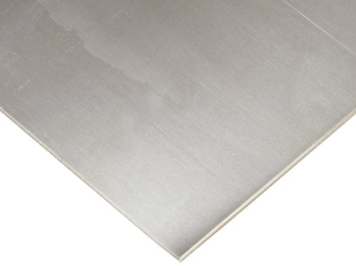 200 Nickel Sheet, Unpolished (Mill) Finish, ASTM B162, 0.125'' Thickness, 12'' Width, 24'' Length by Small Parts