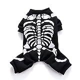 Wizland Pet Jumpsuit Halloween Skeleton Dog Costumes Clothes Apparel Puppy Dog Cat (L, Skeleton)