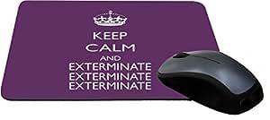 Rikki KnightTM Keep Calm and Exterminate SM Purple Color Design Lightning Series Gaming Mouse Pad
