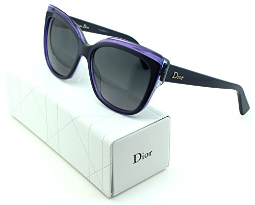 Dior Glisten 2 Cateye Women Sunglasses (Black Purple Frame, Grey Gradient Lens - In Dior Made Sunglasses Italy