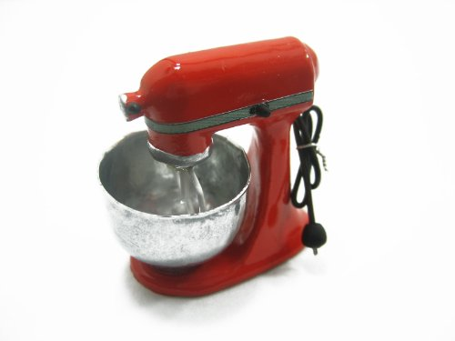 Dollhouse Miniatures PERSIMMON KITCHENWARE Electric Mixer Accessories (Persimmon Accessories)