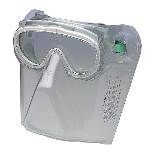 Jackson Safety V90 Monoshield Safety Goggles with Face Shield (16671), Clear Lens, Black Frame, 12 Pairs / Case