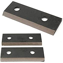 DWZ Black 2pcs Environmental Steel Garden Shredder Chipper Blade Set