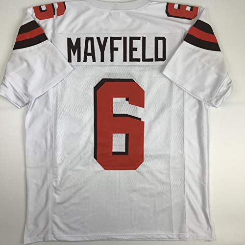 Unsigned Baker Mayfield Cleveland White Custom Stitched Football Jersey Size Men's XL New No Brands/Logos