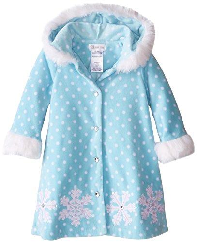 Bonnie Jean Little Girls' Toddler Snowflake Fleece Coat, Aqua, 2T (Bonnie Jean Coat)