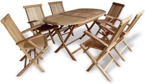Juego de Mesa y sillas para Patio, Comedor al Aire Libre, Madera ...