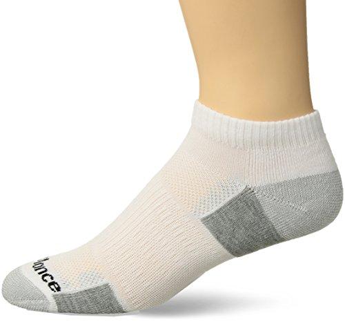 - New Balance Performance Training Low Cut Socks (6 Pair), White/Grey, X-Large