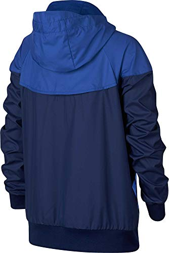 Nike Boy's Sportswear Graphic Windrunner Jacket (Blue, Large) by Nike (Image #1)