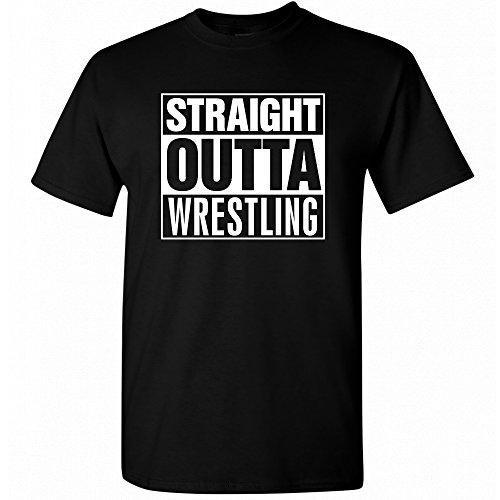 Wrestling Straight Outta Wrestling Black T-Shirt