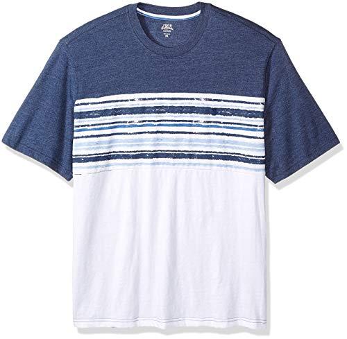 IZOD Men's Saltwater Crewneck T-Shirt (Big & Tall),  Club Blue, Large Tall