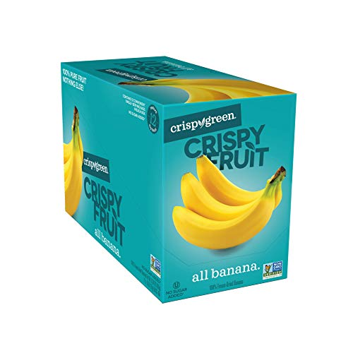 (Crispy Green Freeze-Dried Fruit, Single-Serve, Banana 0.53 Ounce (12 Count) NEW PACKAGING)