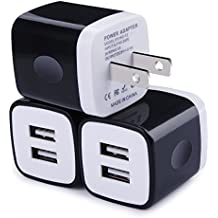 USB Wall Charger, Charger Adapter, Ailkin 3-Pack 2.1Amp Dual Port Quick Charger Plug Cube for iPhone 7/6S/6S Plus/6 Plus/6/5S/5, Samsung Galaxy S7/S6/S5 Edge, LG, HTC, Huawei, Moto, Kindle and More