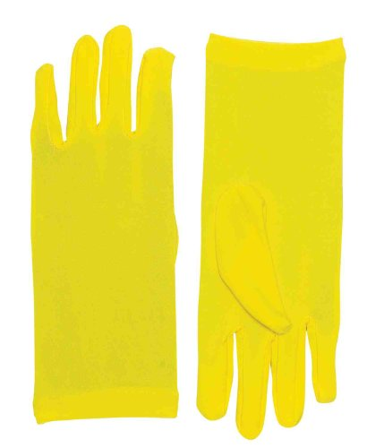 Yellow Gloves (Forum Novelties Women's Novelty Short Dress Gloves, Yellow, One Size)