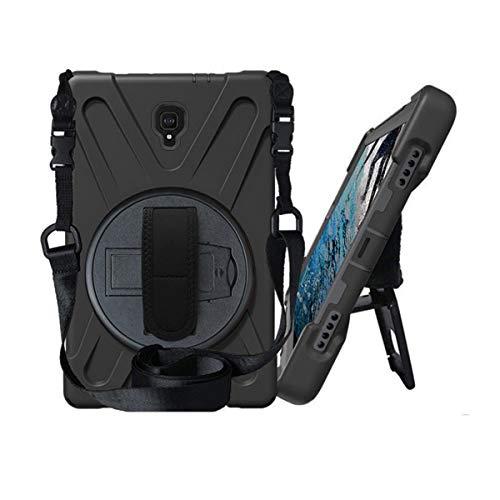 Galaxy Tab A 10.5 (2018) [T590 / T595 / T597] Case by KIQ Shockproof Heavy Duty Military Armor Hybrid Case Cover Kickstand for Samsung Galaxy Tab A 10.5 2018 SM-T590 (Shield Black) (Samsung Tablet Military Case)