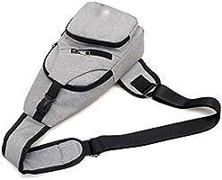 24255515636 Bolsos de Hombro para Hombre Bolsos de Crossbody de Carga USB Hombres Bolsa  de Pecho antirrobo. Cargando imágenes.