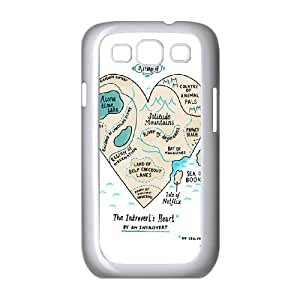 Samsung Galaxy S3 9300 Cell Phone Case White A Map of the Introvert's Heart SH3821535