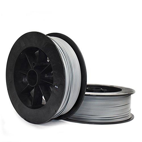 NinjaTek 3DCH14129020 NinjaTek Cheetah TPU Filament, 3.00mm, TPE, 2kg Steel (Gray) (Pack of 1)