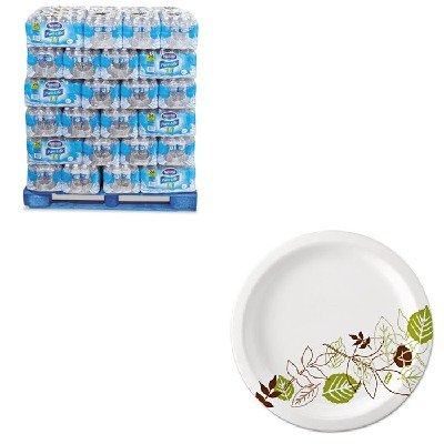 KITDXEUX9WSPKNLE101264 - Value Kit - Nestle Pure Life Purified Water (NLE101264) and Dixie Pathways Mediumweight Paper Plates (DXEUX9WSPK) by Nestle