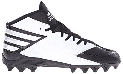 Adidas Originals Mens X Maniaco Del Carbonio Metà Scarpa Da Calcio Nero / Platino / Bianco