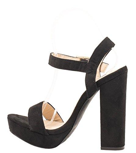 Elara - Tira de tobillo Mujer negro