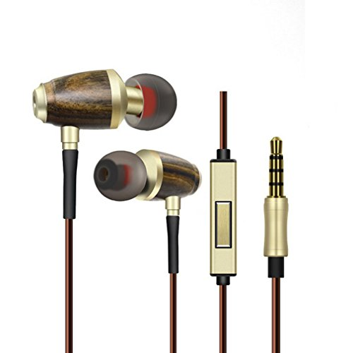 JF-513 woodiness Earbuds In-Ear Metal Earphones Stereo Bass 3.5mm - Outlet Aurora Malls In