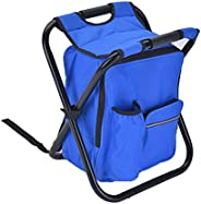 EDTara Folding Chair Bag Stool Backpack with Cooler Insulated Picnic Bag Seat Table Bag for Camping Fishing Tr