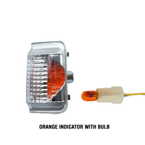 IMS auto parts Ram Promaster Mirror Turn Signals Orange Indicator Lens Right Passenger With Bulb 2014 To 2015