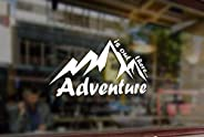 25 cm Mountain Adventure is Out There Climbing Waterproof Vinyl Stickers Funny Decals Bumper Car Auto Computer