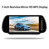 Sonmer 7.0'' LCD Rearview Mirror HD MP5 Display Camera,120° Wide View,Support Night Vision,With 2.4Ghz Wireless Car Reverse Rear View Backup Camera