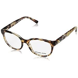 Michael Kors Rania III 4032 Womens/Ladies Designer Full-rim Spring Hinges Eyeglasses/Eyewear (49-17-135, Brown / Multicolor)