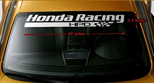 Honda Racing HPD Windshield Windows Decals Cars Stickers Banners JDM Graphics Die Cut Vinyl Civic Del Sol Integra