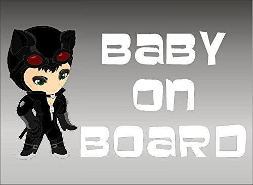 Catwoman Baby on Board vehicle decal, window sticker graphics