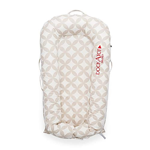 DockATot Deluxe+ Dock (Dream Weaver) - The All in One Baby Lounger - Perfect for Co Sleeping - Suitable from 0-8 Months