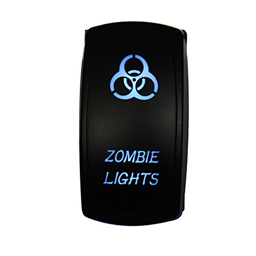 Rocker Switch, Offroad Town Zombie Light 5Pin Laser Zombie Lights Toggle Switch On-Off LED Light 20A 12V, Blue