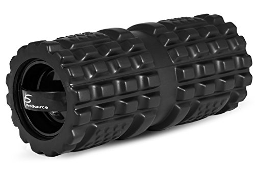 ProSource ExL Vibrating Foam Roller 13''x6'' 3-Speed High Density Roller for Deep Tissue Massage, Faster Muscle Recovery, Myofascial Release, Improved Mobility and Sports Performance by ProSource
