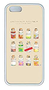 Simple Lovely Glass BottCase For Samsung Galaxy S5 Cover Case Funny Lovely Best Cool Customize White Cover