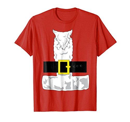 Mens SANTA CLAUS COSTUME Outfit Christmas Shirt | Xmas T-Shirt 3XL Red -
