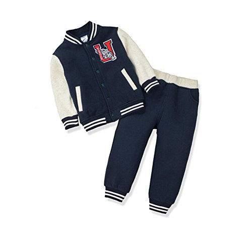 - CuteOn Boys Girls Baseball Tracksuit Jacket + Trouser Sports Suit Outfits Set Royal Blue 2-3 Years