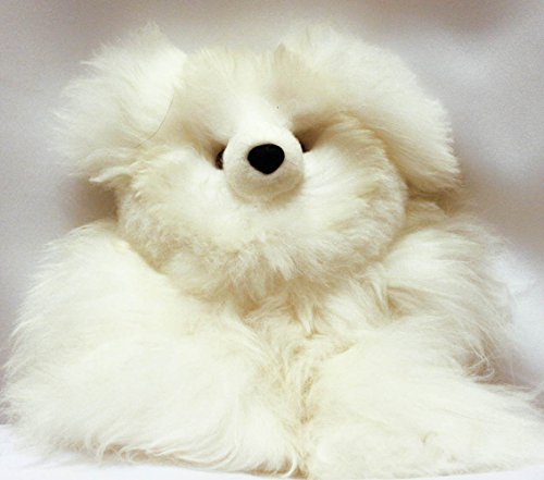 Beautiful White Baby Alpaca Teddy Bear Handmade in Peru